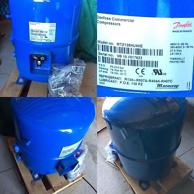 NEW DANFOSS compressor Maneurop COMMERCIAL  MODEL MTZ125HU4VE  ALL FITTINGS