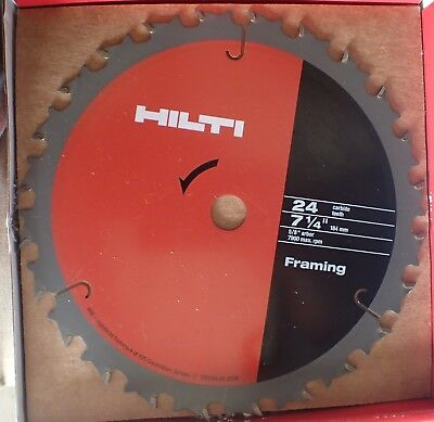 Circular saw blade Hilti 184 mm 24T Framing BRAND NEW IN BOX