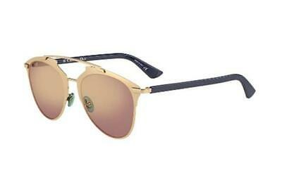 30f4eb116d2d NEW Christian Dior Reflected 3210R 52 Rose Gold Blue Womens Sunglasses  Glasses