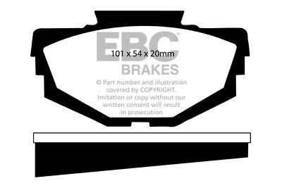 EBC Greenstuff Front Brake Pads for MG 1300 1.3 (68 > 74)