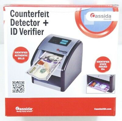 Cassida Automatic Counterfeit Detector With Uv Technology Omni-ID - NEW