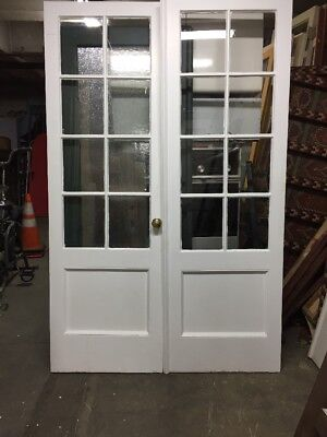 "Colonial Farmhouse Style French Doors 83 X 27 Ea 54"" Open"