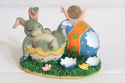 Charming Tails 87/372 After the Hunt - Easter Egg Bunny Snail