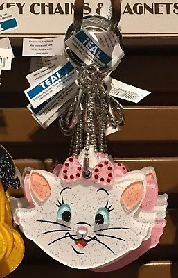 "Disney Parks ""Marie"" from The Aristocats Sparkly Keychain w/Hidden Mirror NWT"