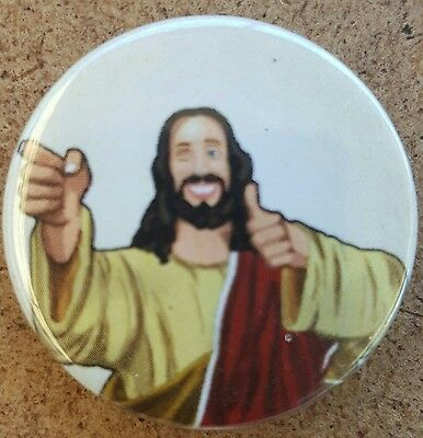 Buddy Christ Pin Back Badge  Dogma Kevin Smith View Askew