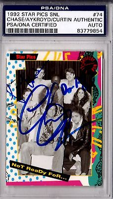 Psa/dna Chevy Chase-Dan Aykroyd-Jane Curtin Autographed-Signed 1992 Card 3779854