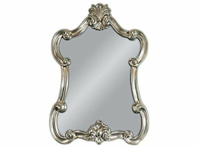 Wall Mirror Baroque Silver Oval Vintage Look Antique Rococo 90x60 Woe