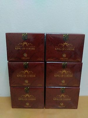 6 Boxes Organo Gold King Of Coffee With Ganoderma Lucidum - Expiry 06/2020