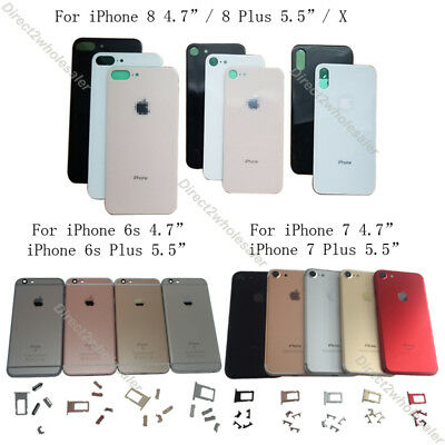For iPhone 6 6s 7 8 Plus X XS Max Back Door Housing Rear Battery Cover Replace