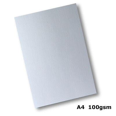 100 Sheets Linen Texture Finish Paper A4 Size 100gsm Quality White #H6011