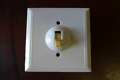 Light Switch White Switch Plate Vintage House Fitting Coltone BM 7622