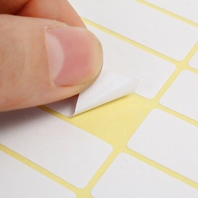 15 Sheets 13x38MM 56 White Sticky Labels Price Stickers Tag Blank Self Adhesive