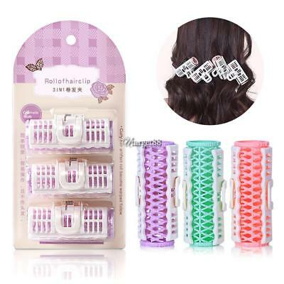 Plastic Hair Curler Roller Grip Hair Curlers Clips DIY Hair Styling Tool UTAR