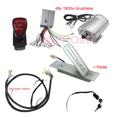 1800W 48V Brushless Electric Motor Speed Controller Throttle Grips Wire Harness