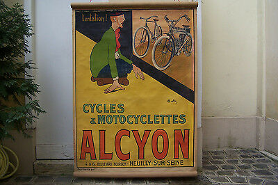 AFFICHE CYCLES & MOTOCYCLETTES ALCYON par MARTIN O'MALLEY