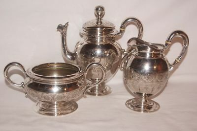 3 parts - Antique Austrian 800 Silver - Coffee set, Vienna est ~1870