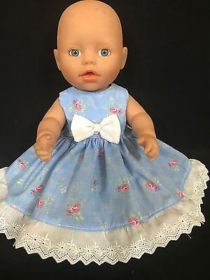 Dolls clothes made to fit 32cm Baby Born Dolls (size Small).  Sleeveless Dress