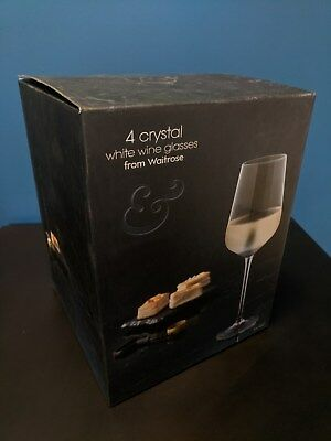 80be54324e78 Waitrose Set of 4 Clear Crystal White Wine Glasses 45cl - 624490 - RRP £25