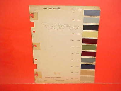 1948 Ford Mercury Super Deluxe Six V-8 Sportsman Convertible Coupe Paint Chips