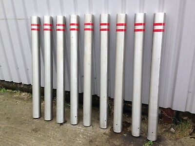 9 x Stainless Steel Bollard 1405 x 114mm car park security driveway barrier post