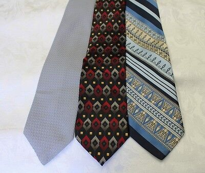 """Lot Of 3 Ties Different Name Width 4"""" & Classic Length 57""""-60"""""""