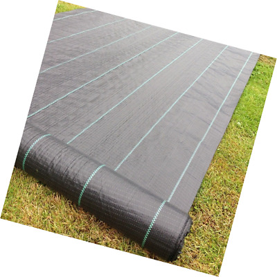 Yuzet 09-001006-00-10 2m x 10m 100g Weed Control Ground Cover Membrane Landscape