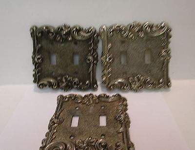 American Tack 1967 Double Light Switch Cover Rose Design - Set of 3  Vintage