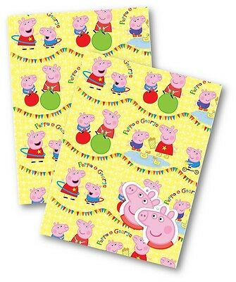 Peppa Pig Gift Wrap, 2 Sheets of Quality Wrapping Paper & 2 Tags