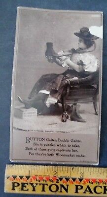 Victorian Trade Card Woonsocket Rhode Island Woonsocket Rubber Co Shoes