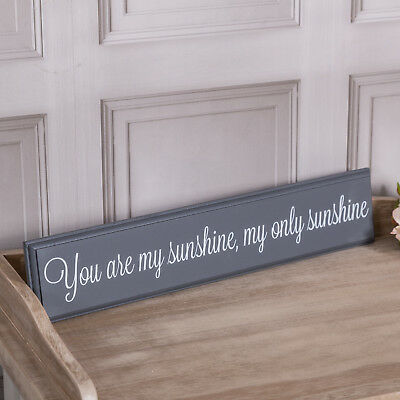 You Are My Sunshine Vintage Black Metal Wall Hanging Plaque Sign