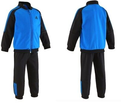 Adidas Tracksuit Kids Boys Toddler Polyester Blue Black Ay7761 New £19.99