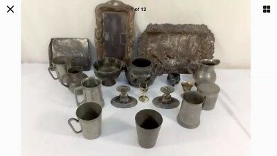 Chinese/Japanese Pewter Rare pieces antique vintage collectors items