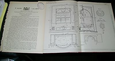 Improved Fireplace Patent. Meaille, France. 1901.