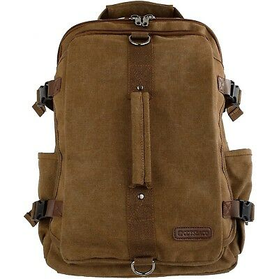 Montera Vintage Canvas Backpack - Heavy Duty Casual Daypack Rucksack