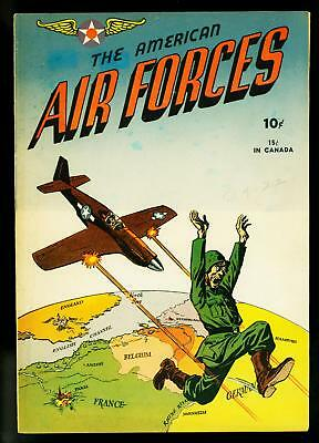 American Air Forces #1 1944- D Day story- Craig Flessel- Golden Age- VF