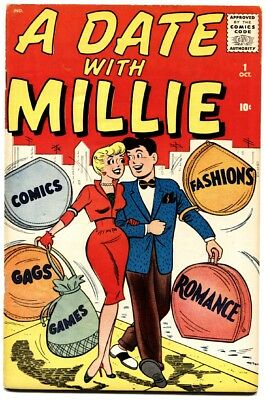 A Date With Millie #1 1959-Atlas-Dan DeCarlo-Chili-paper dolls-fashion