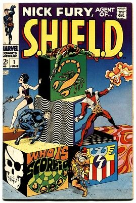 Nick Fury, Agent Of Shield #1 1968-Steranko-Marvel Vf-