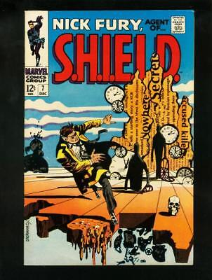 Nick Fury Agent Of Shield #7 1968- Dali Style Cover- Vf/nm