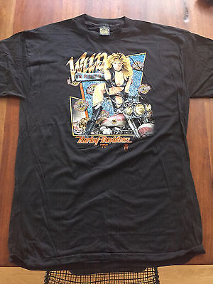 VINTAGE Harley Davidson Wild Breed T-Shirt XL, 3D Emblem, 1988 Authentic Hog