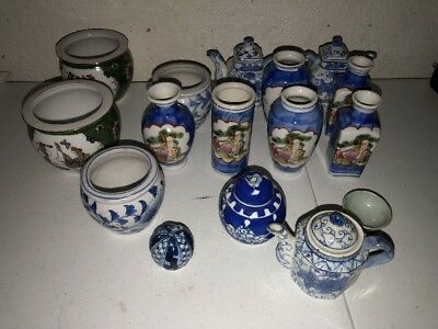 Mini Tops And Bowls Vintage Blue And White Made In China