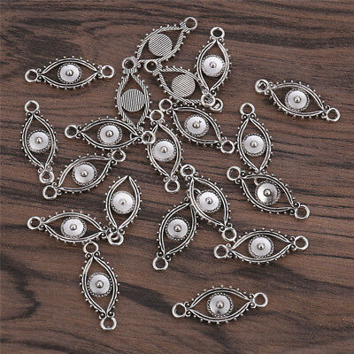 20x Retro Evil Eye Alloy DIY Pendant Charms Jewelry Making Gift Accessories