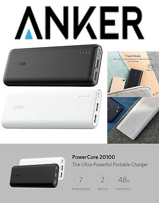 Anker PowerCore 20100 Ultra High Capacity Power Bank 20000mAh Powerful PowerIQ