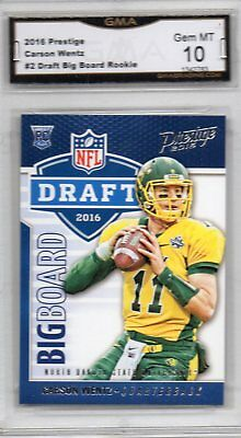 Carson Wentz 2016 Panini Prestige Big Board Rookie Card 2