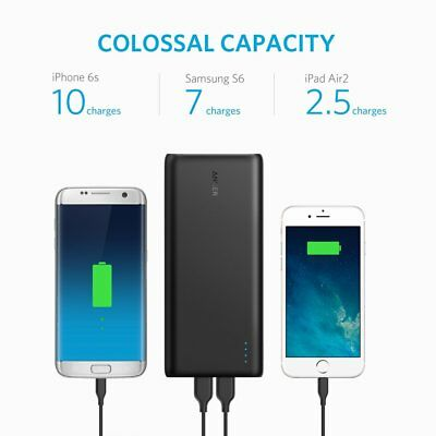 Anker PowerCore 26800mAh Portable Charger External Battery 3 USB Ports Faster