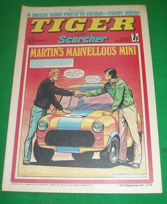 Tiger Comic  11/9/1976  With Stunning  Sheffield United  Team Centrefold Poster