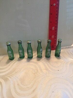 "Vintage Canada Dry Ginger Ale Mini Glass Bottles 2.5"" Spanish Argentina 6 #11"