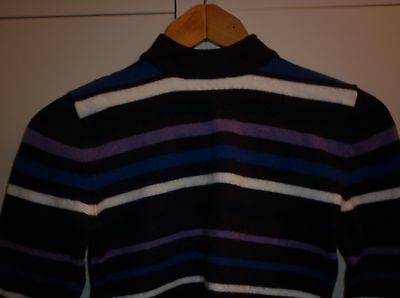 Vintage  Funky Stripe Wool Jumper Small Excellent Condition
