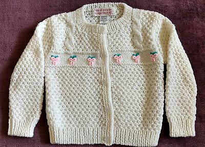 Vintage Sage Lauren Collection Girls Hand Made Cardigan Sweater- 24 Months -Rare
