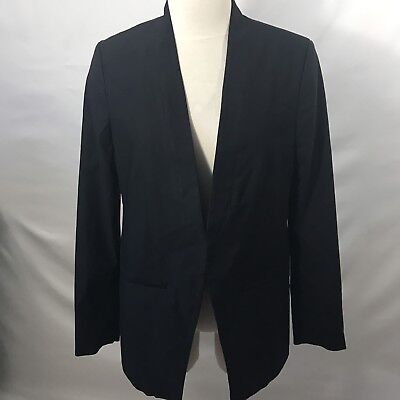 A Pea In The Pod Blazer Womens M Open Front Black Jacket NWT $148 Career