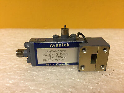 Avantek AMT-400X2 (WR-28) 26.5 to 40 GHz, Active Frequency Doubler. Tested!
